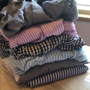 Lot 6 men's dress shirts 16.5 Ben Sherman stripes